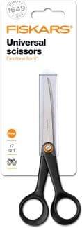 Scissors: General Purpose: Functional Form™: Black: 17cm/6.7in